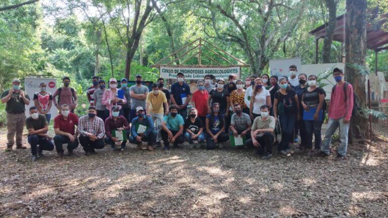Participantes del Curso de Promotores Agroecológicos Comunitarios